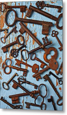 Old Skeleton Keys Metal Print by Garry Gay