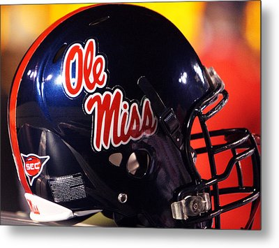 Ole Miss Football Helmet Metal Print by University of Mississippi