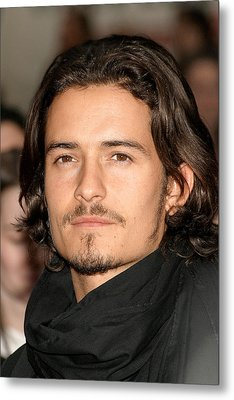 Orlando Bloom At Arrivals For Kingdom Metal Print by Everett