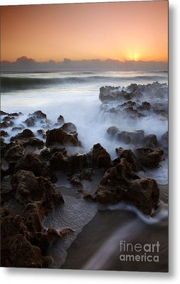 Overwhelmed By The Sea Metal Print by Mike  Dawson