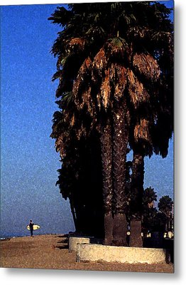 Palm Trees At Surfers Point Metal Print by Ron Regalado