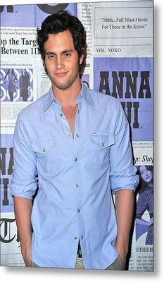 Penn Badgley At Arrivals Metal Print by Everett