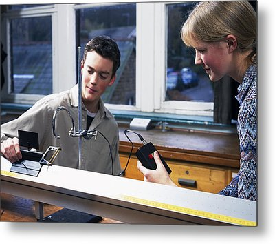 Physics Experiment Metal Print by Andrew Lambert Photography