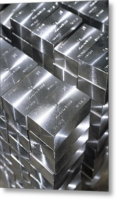 Platinum Bars Metal Print by Ria Novosti