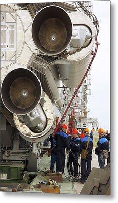 Proton-m Rocket Before Launch Metal Print by Ria Novosti