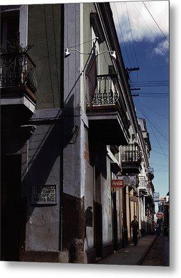 Puerto Rico. Street In San Juan, Puerto Metal Print by Everett