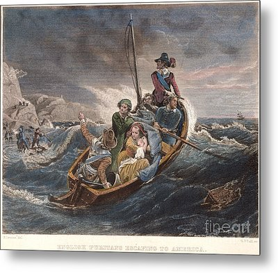 Puritan Fugitives Metal Print by Granger