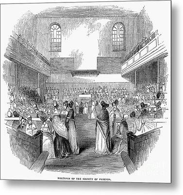 Quaker Meeting, 1843 Metal Print by Granger