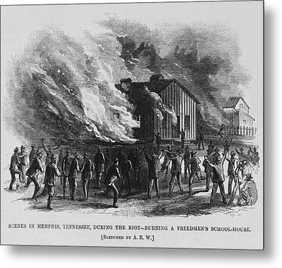 Race Riot In Memphis, Tennessee, May 2 Metal Print by Everett