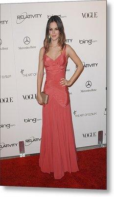 Rachel Bilson Wearing A Zac Posen Dress Metal Print by Everett