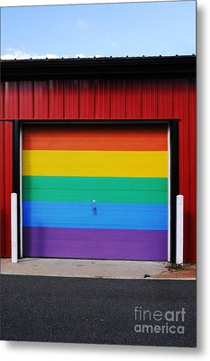 Rainbow Garage Metal Print by HD Connelly