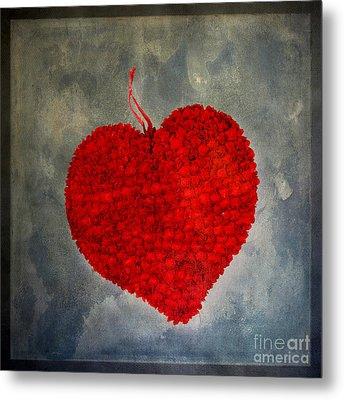 Red Heart Metal Print by Bernard Jaubert