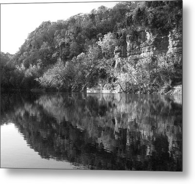 River Reflection Metal Print by Paul Roger Ballard