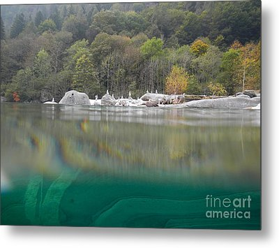 River With Trees Metal Print by Mats Silvan