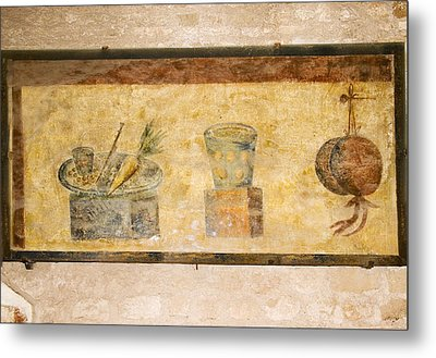 Roman Fresco, Ostia Antica Metal Print by Sheila Terry