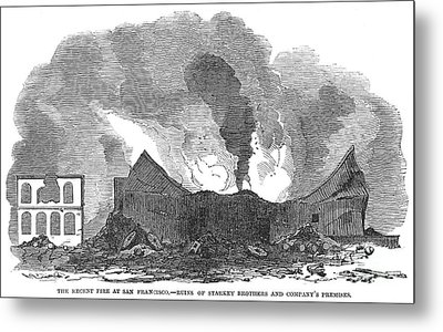 San Francisco: Fire, 1851 Metal Print by Granger