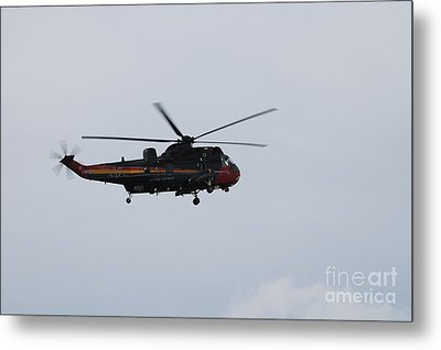 Sea King Helicopter Of The Belgian Army Metal Print by Luc De Jaeger