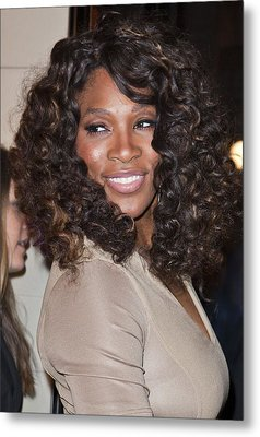 Serena Williams At Arrivals Metal Print by Everett
