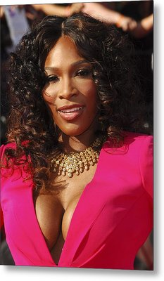 Serena Williams At Arrivals For The Metal Print by Everett