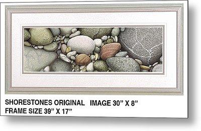 Shore Stones Metal Print by JQ Licensing