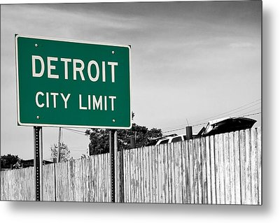 Sign Of The Times Metal Print by James Marvin Phelps