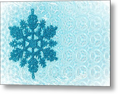 Snow Flake Metal Print by Tom Gowanlock