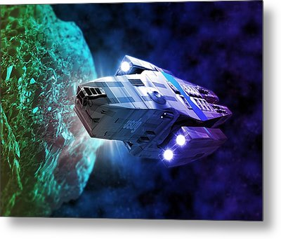 Space Exploration, Artwork Metal Print by Victor Habbick Visions