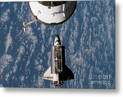 Space Shuttle Atlantis Approaching Metal Print by Stocktrek Images