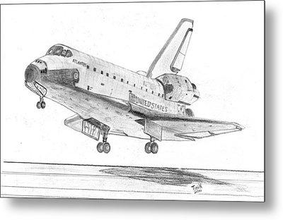 Space Shuttle Atlantis Metal Print by Tibi K