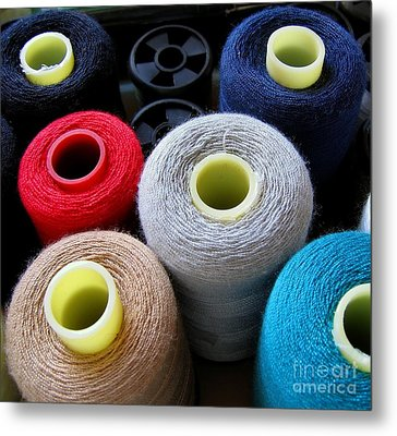 Spools Of Yarn Metal Print by Yali Shi