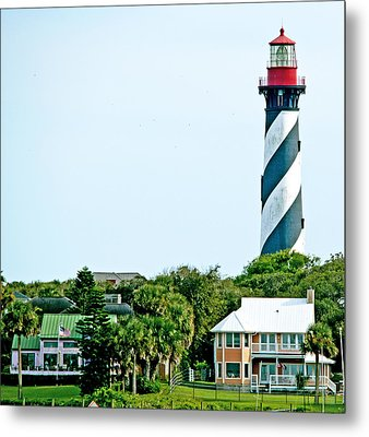 St. Augustine Lighthouse Metal Print by Kenneth Albin