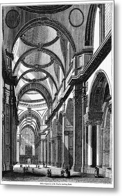 St. Paul's Cathedral, Historical Artwork Metal Print by Middle Temple Library