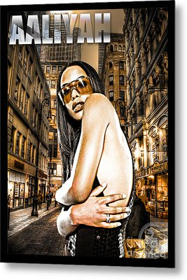 Street Phenomenon Aaliyah Metal Print by The DigArtisT