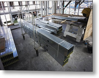 Structural Steel Construction. Metal Metal Print by Don Mason