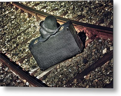Suitcase And Hats Metal Print by Joana Kruse