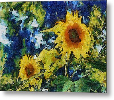 Sunflowers Metal Print by Michelle Calkins