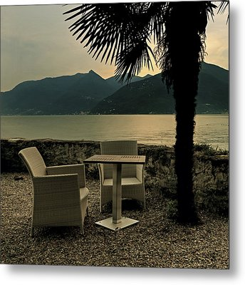 Table And Chairs Metal Print by Joana Kruse