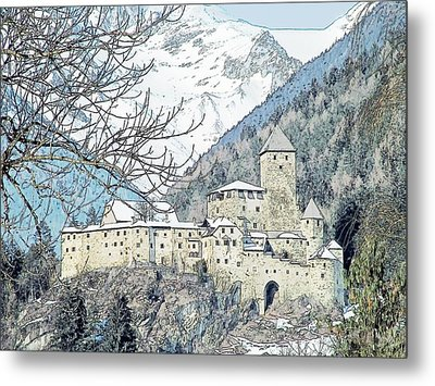 Taufers Knights Castle Valle Aurina Italy Metal Print by Joseph Hendrix