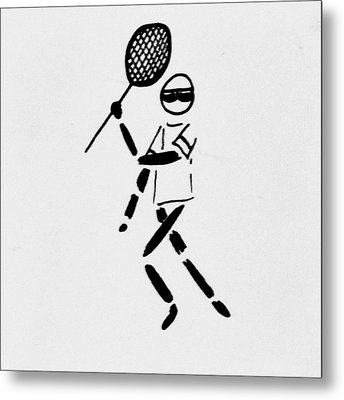 Tennis Guy Metal Print by Robin Lewis
