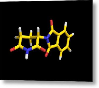 Thalidomide Drug Molecule Metal Print by Dr Tim Evans