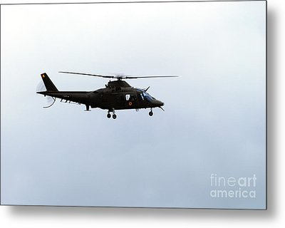 The Agusta A-109 Helicopter Metal Print by Luc De Jaeger