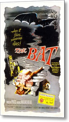The Bat, Vincent Price, 1959 Metal Print by Everett