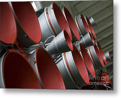 The Boosters Of The Soyuz Tma-14 Metal Print by Stocktrek Images