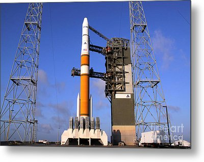 The Delta Iv Rocket That Will Launch Metal Print by Stocktrek Images