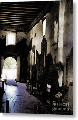 The Ghostly Nave Metal Print by Donna Greene