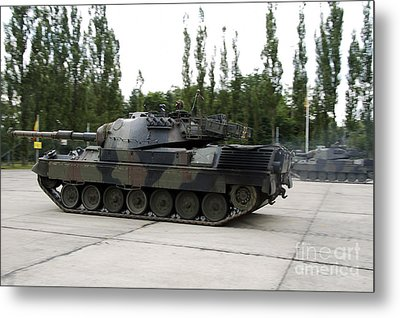 The Leopard 1a5 Of The Belgian Army Metal Print by Luc De Jaeger