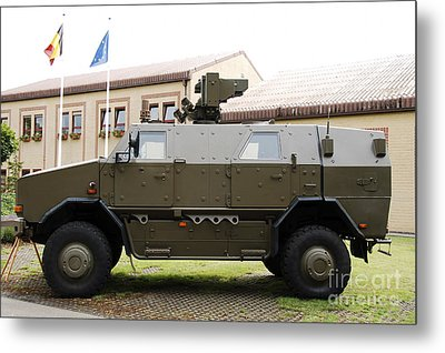 The Multi-purpose Protected Vehicle Metal Print by Luc De Jaeger