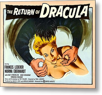The Return Of Dracula, Francis Lederer Metal Print by Everett