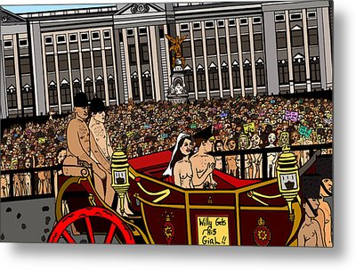The Royal Nude Wedding Metal Print by Karen Elzinga