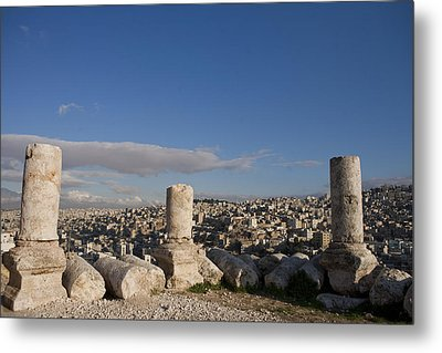 The Ruins Of The Ancient Citadel, Or Metal Print by Taylor S. Kennedy